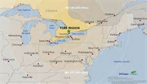 map of new york and canada significant market access invest in york toronto area