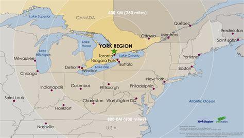 Map Of York Canada   Derietlandenexposities