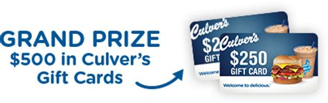 Culvers Gift Cards - official rules