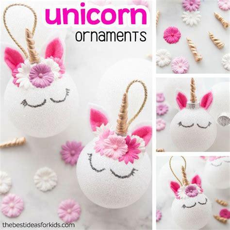 unicorn ornaments holiday diy unicorn ornaments diy