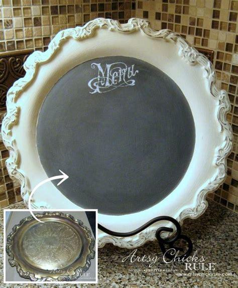 chalkboard paint on metal metal tray repurposed with chalk paint menu