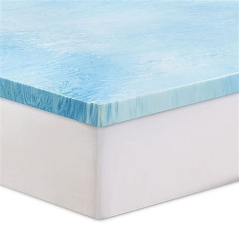 mattress topper bed bath and beyond serta 174 3 inch gel swirl memory foam mattress topper bed
