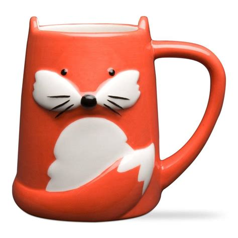 fox mug foxy tail fox mug unique coffee mug from toad hollow