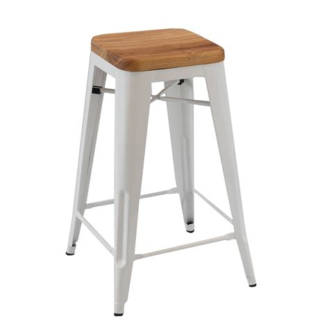 Seating Stool by Replica Xavier Pauchard Wooden Seat Stool