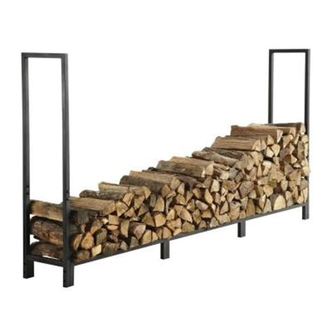 Home Depot Log Rack by Pleasant Hearth 8 Ft Firewood Rack Discontinued Ls920 96 The Home Depot