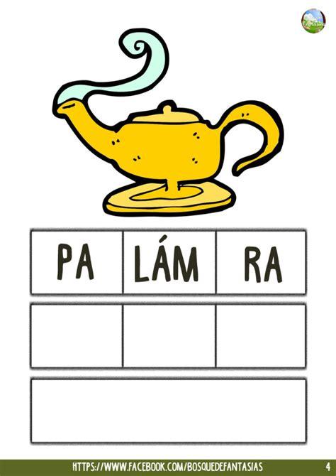 cuarto silabas cuadernillo de palabras con 3 s 205 labas para ordenar y escribir