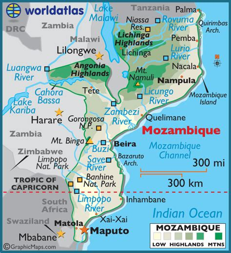 map of mozambique cities january 2013 landmines in africa
