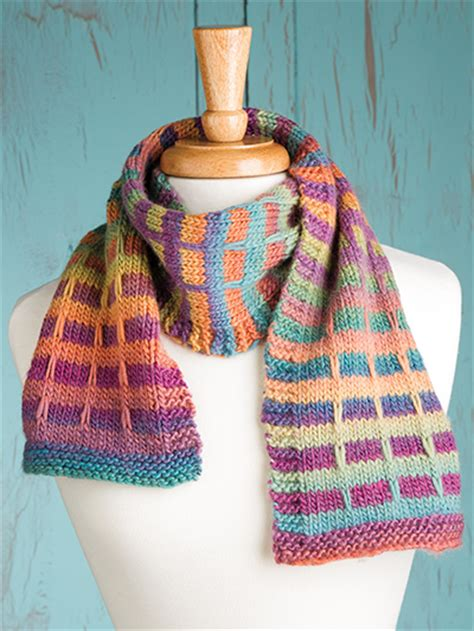 knitting pattern plaid scarf colorful scarf knitting patterns in the loop knitting