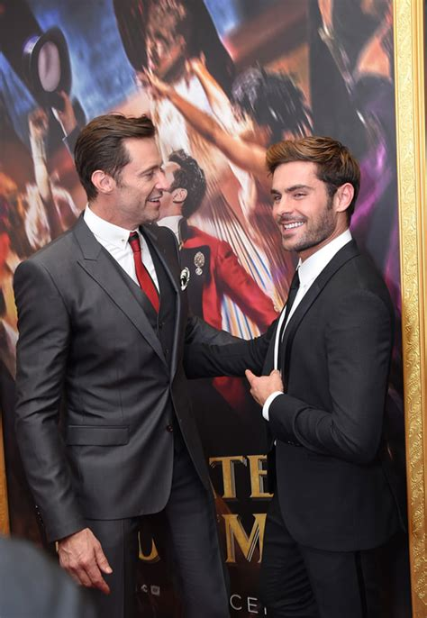 zac efron and hugh jackman hugh jackman and zac efron at quot the greatest showman quot world
