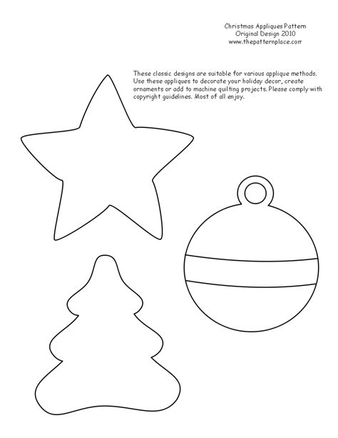 printable felt christmas patterns search results