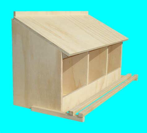 chicken nest box for bantams 3 hole wall mount
