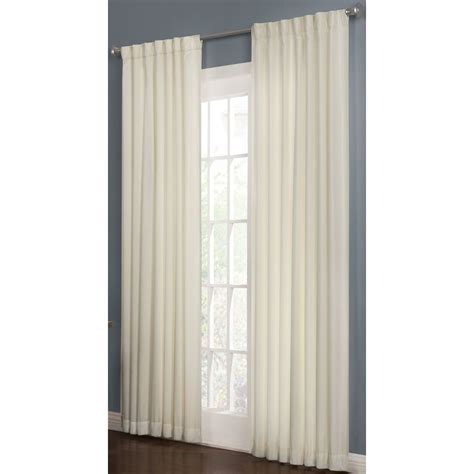 Thermal Back Curtains Shop Allen Roth Beeston 84 In L Solid Snow Thermal Back Tab Window Curtain Panel At Lowes