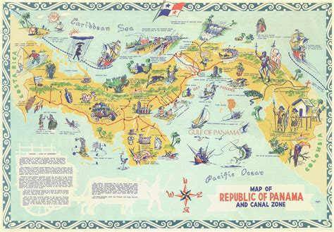 tourist map large detailed tourist map of panama panama large