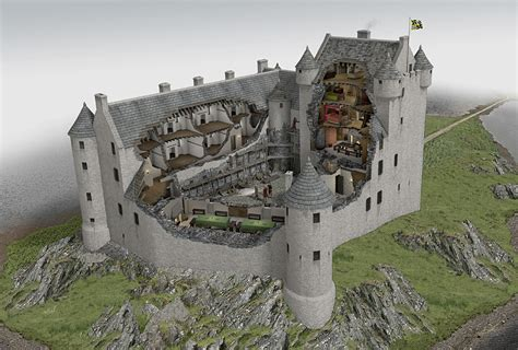 Small Courtyard House Plans Kilchurn Castle Illustrated Historical Reconstruction