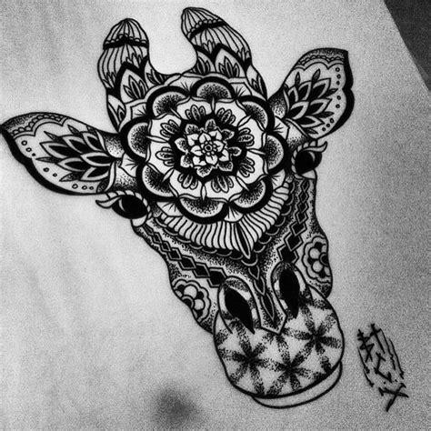 mandala animal tattoo tumblr the burton tattoo collective mandala giraffe for