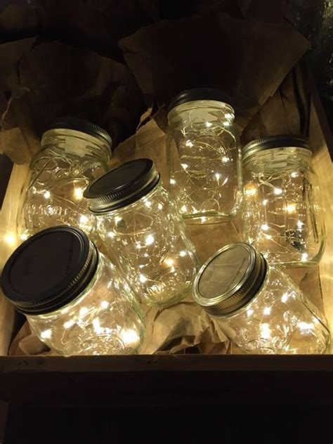 fairy lights in a jar firefly lights and mason jar wedding lights outdoor