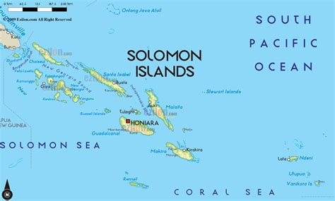 map of the islands road map of solomon islands and solomon islands road maps