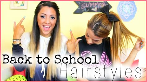 easy hairstyles for the day of high school 5 and easy back to school hairstyles with nikiandgabibeauty