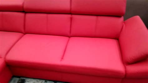 red leather chaise longue red leather sofa with chaise longue youtube alley cat themes