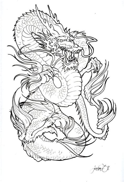 tattoo japanese stencils 268 best dragons images on pinterest coloring pages