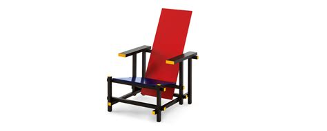 sedia rietveld 635 and blue armchair by gerrit rietveld cassina