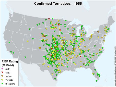map of tornadoes today us tornadoes map1955 u s tornadoes