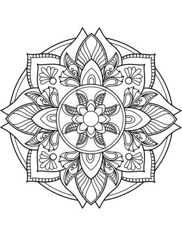 imagenes de mandalas florales dibujo de mandala de flores para colorear dibujos para
