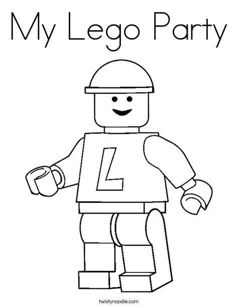 My Lego Party Coloring Page Twisty Noodle Printable Lego Coloring Pages