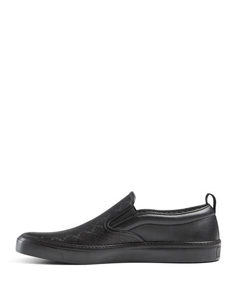 Slip On Gucci 1 gucci diamante leather slip on sneaker in black lyst