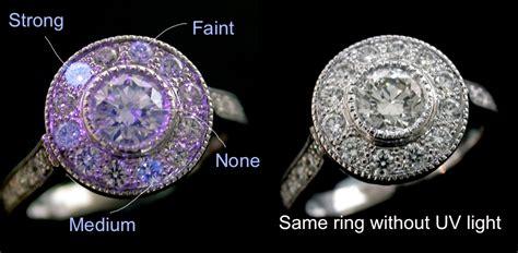 diamonds uv light fluorescence ellissi rings and jewellery