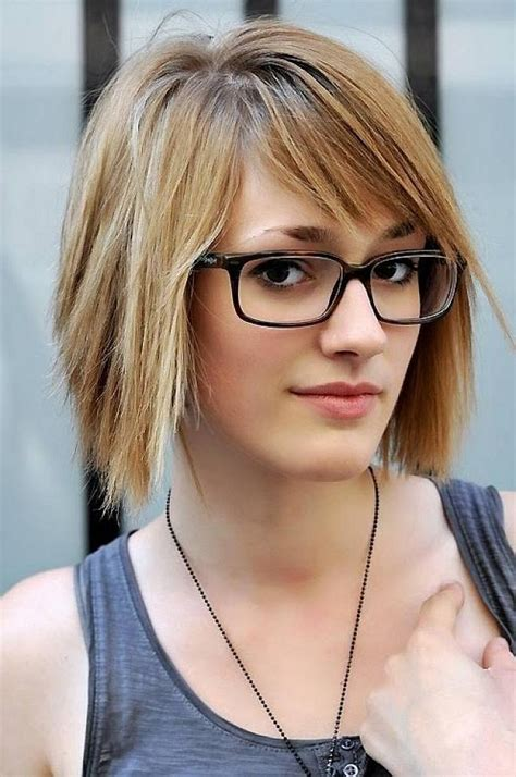 hairstyles bangs and glasses 20 inspirations of short haircuts with bangs and glasses