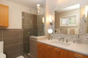 Bathroom Vanity Tile Backsplash Pictures Bathroom Vanity With Glass Tile Backsplash Mosaic Glass