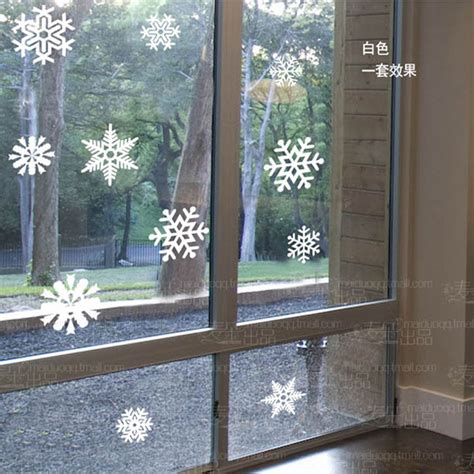 new year decorations next day delivery free shipping snowflake window glass sticker cabinet