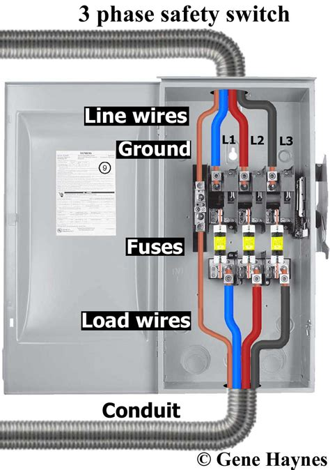 single phase fused disconnect switch wiring diagrams