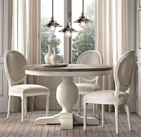 restoration hardware dining room tables baroque parquet round dining table restoration