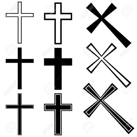 cross silhouette tattoo cross clipart 84