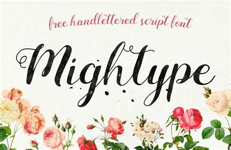 printable hand lettering fonts free hand lettered font mightype wp gaint freebies