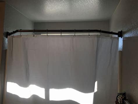 rv shower curtain rod stromberg carlson extend a shower shower curtain rod for