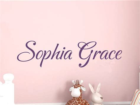 Girls Name Wall Decal Personalized Bedroom Wall Decor Nursery Personalized Wall Decals For Nursery