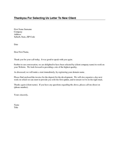 thank you letter to a client best photos of client thank you letter template thank