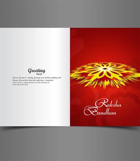 greeting card templates for raksha bandhan raksha bandhan bright colorful greeting card rakhi indian