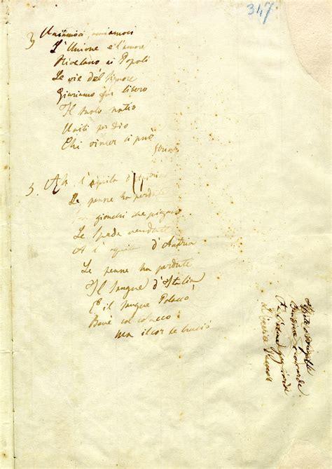 inno di mameli testo originale museo risorgimento musei di genova