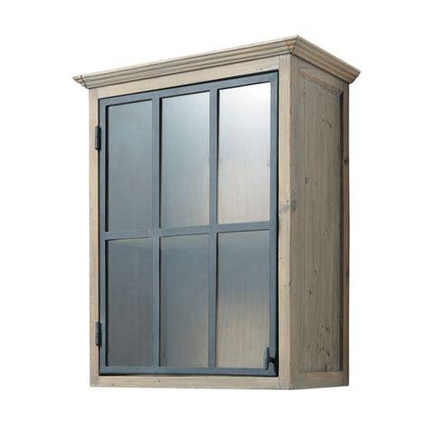 meuble haut vitr 233 de cuisine ouverture droite en bois recycl 233 l 60 cm copenhague maisons du monde