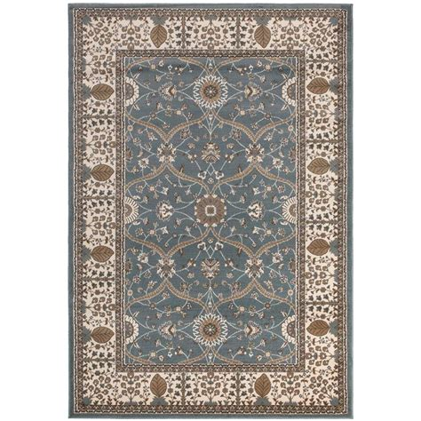 7 X 7 Area Rug Ottomanson Traditional European Blue 5 Ft 3 In X 7 Ft 7 In Area Rug Rgl9056 5x7 The Home Depot