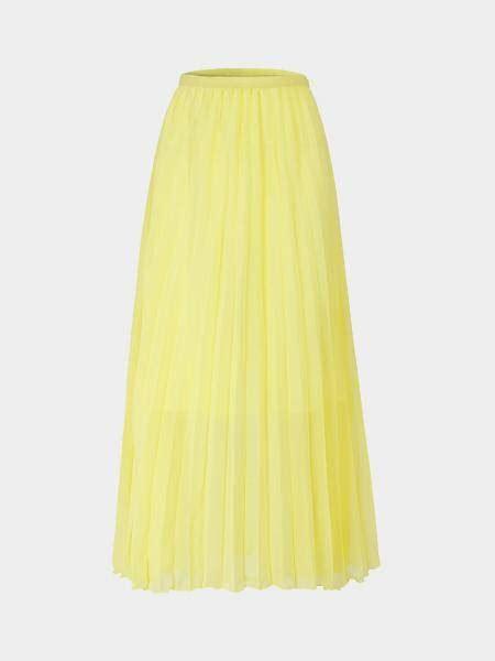 light yellow chiffon pleated maxi skirt us 23 95 yoins