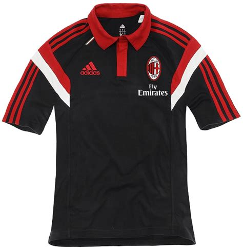 Kaos Logo Of The Match Warna Hitam polo shirt ac milan black 2014 2015 big match jersey