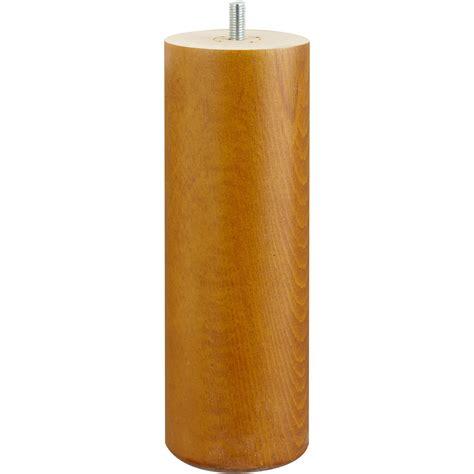 pied de lit sommier cylindrique fixe h 234 tre teint 233 marron