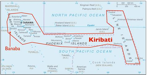 map of kiribati islands the anomaly of banaba island part of kiribati but