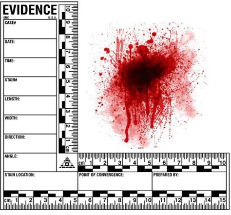 blood spatter evidence reference decals