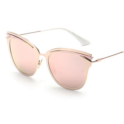 contain gold 2016 new retro alloy cat eye sunglasses